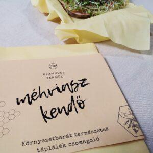 Szendvics csomagoló méhviaszos kendő 30cm X 30cm Kézműves termék